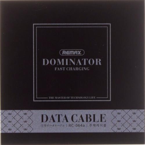 Кабель соединения USB 2,0>Type-C Remax Dominator RC-064a black 1 м