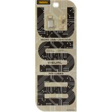 Адаптер переходник microUSB>iPhone5s Remax Visual №RA-4sb2