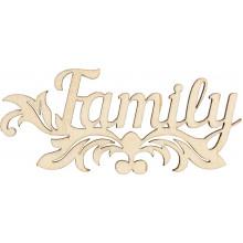 Заготовка фанера надпись Family 4,5х10 см