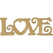 Заготовка фанера надпись Love 2х6 см (5)