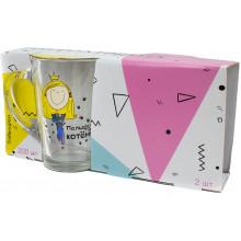 Набір чашок скло 2 шт 300 мл Капучіно Подруги Галерея (6) №86004472