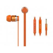 Наушники вакуумные металлические Yison EX760 гарнитура orange, микрофон