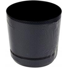 Горшок для цветов пластиковый d125мм-04 v-1,4 л темное серебро (10)