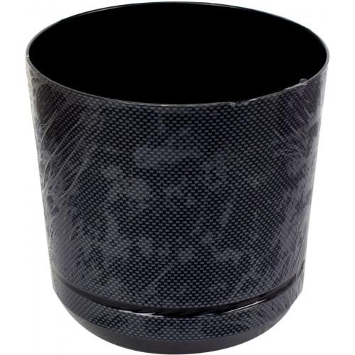 Горшок для цветов пластиковый d160мм-04 v-2,5 л темное серебро (10)