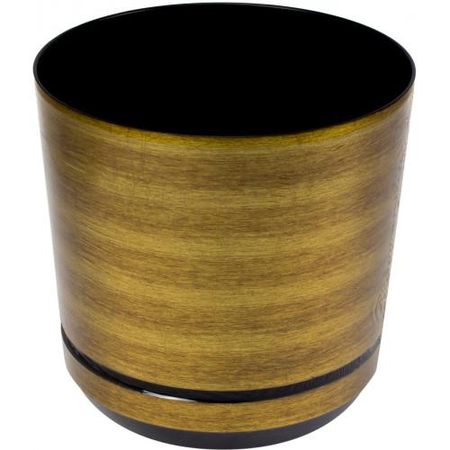 Горшок для цветов пластиковый d160мм-07 v-2,5 л рыжие золото (10)