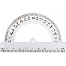 Транспортир пластиковий Барвінок 100 мм (48) 9-603