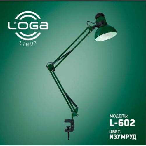 Лампа настольная со струбциной Изумруд (10) №L-602