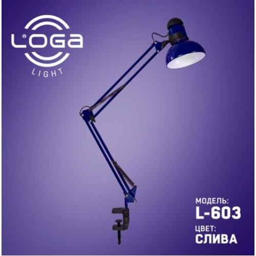 Лампа настольная со струбциной Слива (10) №L-603