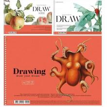 Альбом для рисования на пружине 30 листов A4 Muse Школярик крафт-картон (36) №PB-SC-030-306