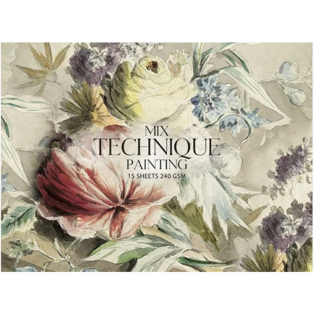 Альбом для рисования склейка 15 листов A4+  MixTechnique Muse Школярик (1) №PB-GB-015-051