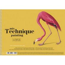 Альбом для рисования на пружине 20 листов A4 Mix Technique Muse Школярик (1) (36) №PB-SC-020-309