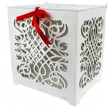 Весільна скринька для листівок 25х26х20см фанера