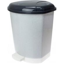 Ведро 15 л для мусора с крышкой и педалькой, мрамор-флок Горизонт №GR-02063