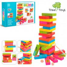 Іграшка дерев'яна Вежа, обруч, тварини, молоточок в коробці,24,5 х18х5см (36) MD2336