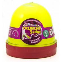 Лизун-антистресс  Mr.Boo Crunchy slime Банан 120 гр (24) №80089