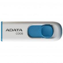 Флеш-память 32 GB A-Data C008 USB2.0 white/blue 9666