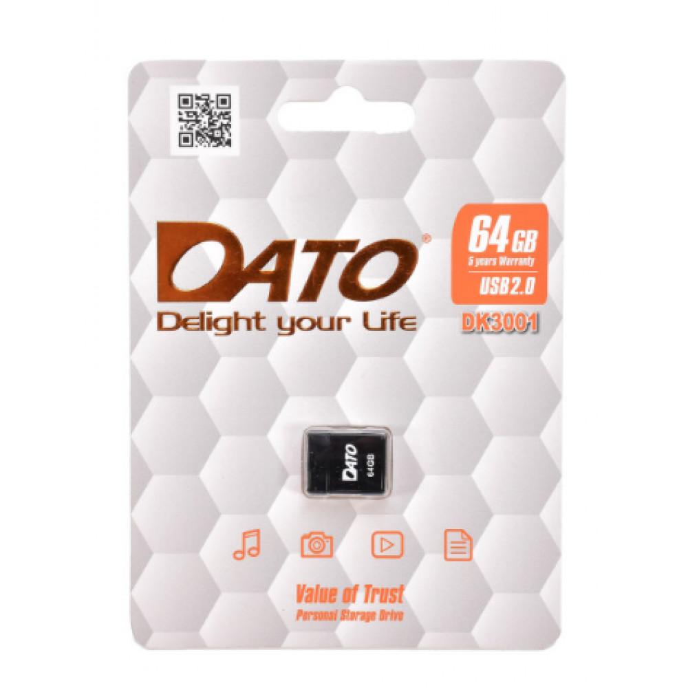 """Флеш-память 64 GB """"Dato"""" DK3001 USB2.0 black"""