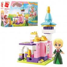 Конструктор Qman Замок, принцеси, фігурки, 116 деталей, в коробці, 22 х14,5 х4 см (64) 2613-2