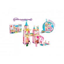 Конструктор Qman Замок, принцеси, фігурки, 405 деталей, в коробці, 37 х28х6,5 см (12) 2615