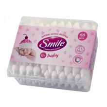 Ватные палочки детские Smile с ограничителем №3544