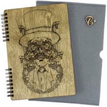 Блокнот A5 деревянная обложка Механик  Breidon