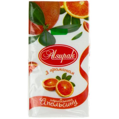 Платочки паперові Alsupak Сицилійський апельсин (10) (160)