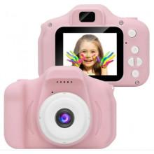 Фотоапарат 8,5 см, акумулятор, звук, кольоровий дисплей, TF слот, USB зарядка, 2 кольори, в коробці, 11,5х14,5х5см (20)