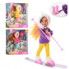 Лялька Defa 13,5см, взуття, лижі, шолом, в коробці 15х16,5х6см, 3 кольори 8310