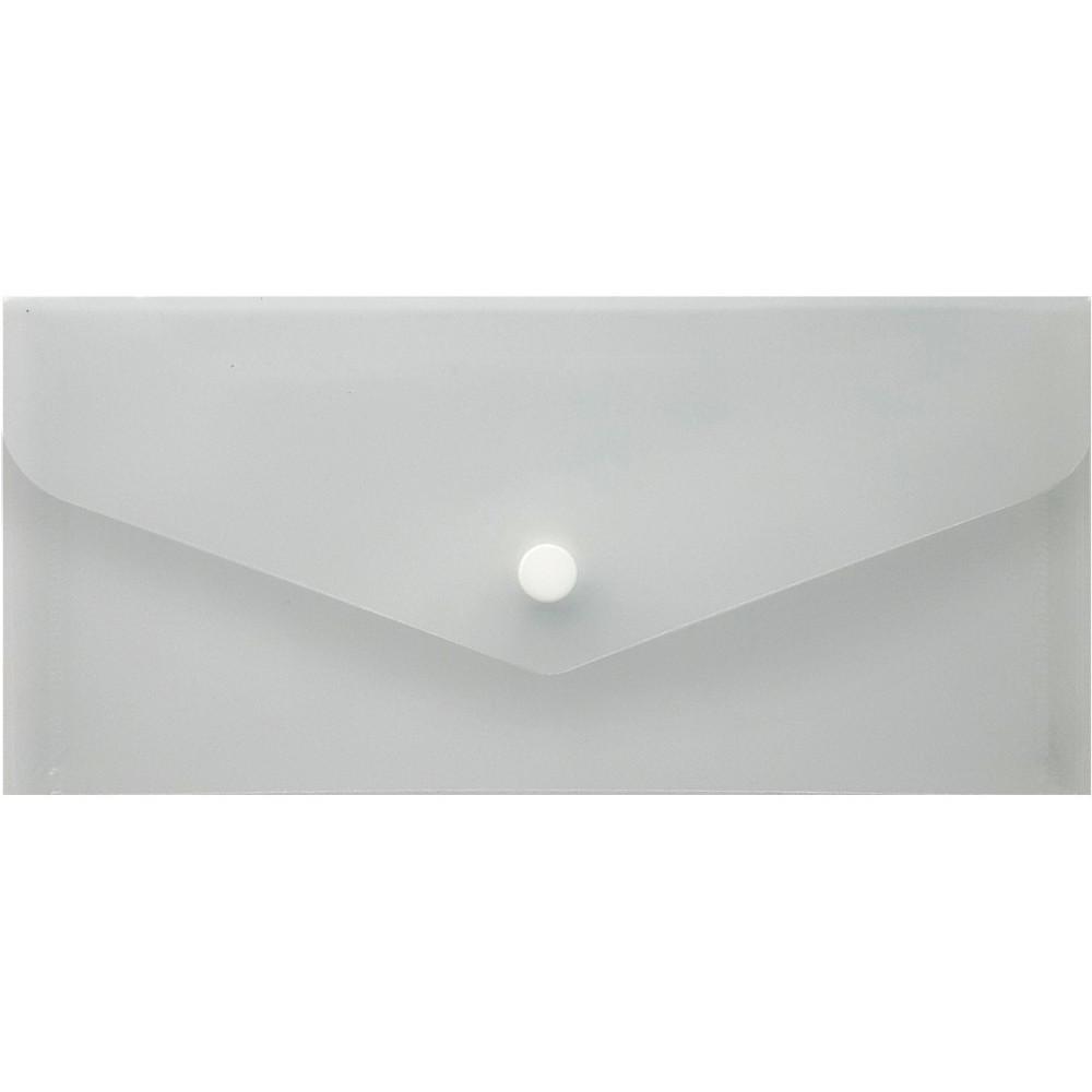 Папка-конверт Economix на кнопке под евроконверт E65 прозрачная (10) (20) (100) №N31306-00