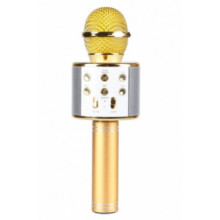 Мікрофон на акумуляторі 23 см,Bluetooth,TFслот,USB зарядка,в коробці,9,5 х25х8,5 см,3 кольои (20) WS858