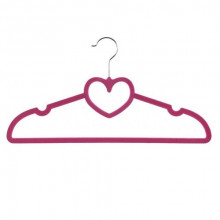 Вешалка с велюровым покрытием Сердце 40 см (10) (240) №R85331