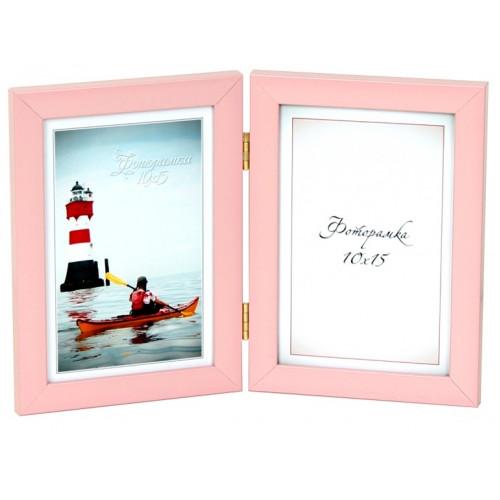 Фотоколлаж 10х15 2 в 1 светло-розовый №2-9236