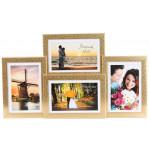 Фотоколлаж 10 х15 4 в 1 золото мрамор №4-0087