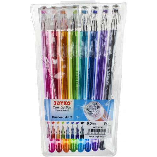 Набір ручок гелевих Joyko iDiamond 8 кольорів (1) (24) №GPС-296