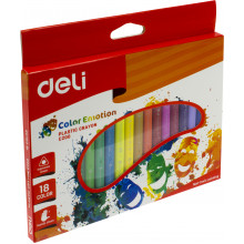 Карандаши цветные 18 цветов Deli Color Emotion пластиковые №EC20010