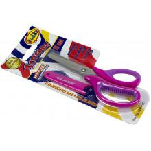 Ножницы детские Class 13,3 см,розовые,прорезиненные ручки,с чехлом (30) 4283-12 С
