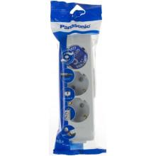 Розетка для подовжувача Panasonic 3 гнізда з заземленням сіра B04302GR-UA