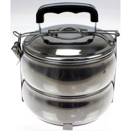 Набір контейнерів металевих для харчових продуктів (2 шт) 900 мл (36) №R30255