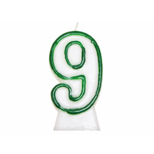 """Свічка в торт цифра """"9"""" 8,5см 1937507 (6)"""
