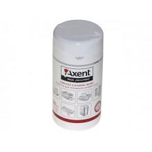 Серветки вологі для очищення оргтехніки Axent 100шт (20) №5301