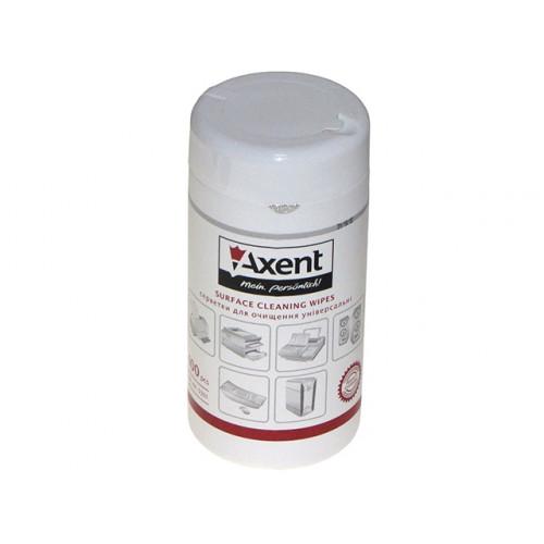 Салфетки влажные для очистки оргтехники Axent 100шт (20) №5301