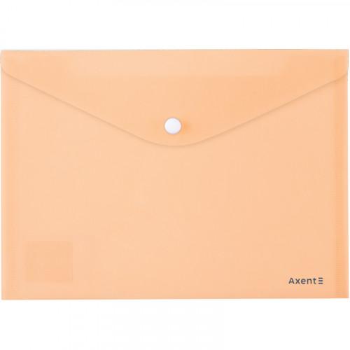 Папка-конверт Axent A5 Pastelini на кнопці, персикова (12) 1522-42-А