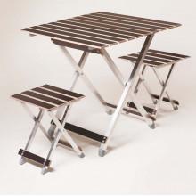 Комплект ALUWOOD великий Стіл великий + 2 стільці