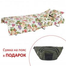 Ліжко на ламелях з постіллю d25 мм бязь (Квіти польові)